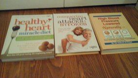 3 Book Set Health Heart Miracle Diet Conquering Heart Attacks & Strokes High Blood Pressure  Low... in Naperville, Illinois