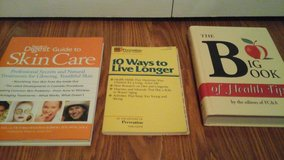 3 Book Set Skin Care The Big Health Book 10 Ways to Live Longer in Glendale Heights, Illinois