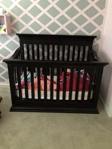 Crib, changing table and rocking chair with ottoman in Tacoma, Washington