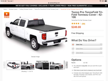 Tri-fold Tonneau Cover fits Chevy Long Bed in Alamogordo, New Mexico