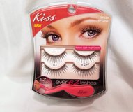 KISS 2 Eyelashes EZ Make Up Mascara False Fake Lash Black Set Double Pack Beauty Party in Houston, Texas