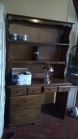 solud wood desk with high back in Leesville, Louisiana