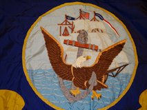 1960s Embroidered Navy flag. 5 feet wide. in Fairfield, California