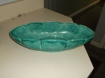 Oval Shaped Teal Ceramic Bowl in Lockport, Illinois