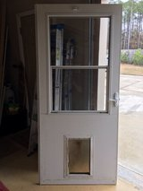 Storm Door with Pet Entry System in Camp Lejeune, North Carolina