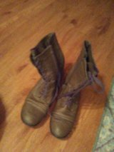 Ladies Size 11 Tie and Zip Boots in St. Charles, Illinois