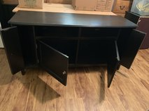 Black Hardwood TV stand. in Leesville, Louisiana