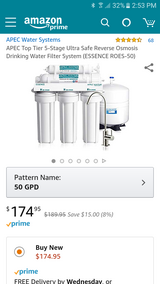 APEC 5-Stage Reverse Osmosis Drinking Water Filter System(New in box) in Wilmington, North Carolina