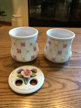 Longaberger Toothbrush Holder & Matching Cup in Aurora, Illinois