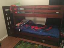 Cherry wood bunk beds w/ stairs in Fort Polk, Louisiana