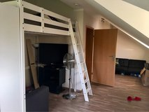 White IKEA Full Size Loft Bed in Ramstein, Germany
