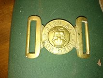 military badges and buckle in Lakenheath, UK
