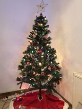 complete 6ft Christmas tree in Ramstein, Germany