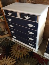 solid maple antique dresser chalk painted in Camp Lejeune, North Carolina