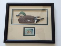 1996 Ducks Unlimited Shadow Box Framed Stamp in Chicago, Illinois