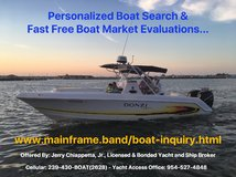 Free Boat Market Evaluations and Free Personalized Boat Search in MacDill AFB, FL