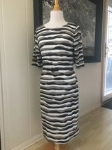 New with Tags! Brown and White Striped Dress Size 12 in Naperville, Illinois