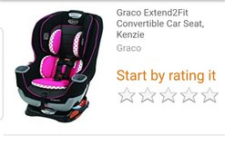 Child safety car seat in Elgin, Illinois