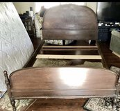 Antique solid wood full size bed in Fairfield, California