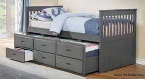 BRAND NEW! QUALITY SOLID WOOD GREY FINISHED CAPTAINS BED in Camp Pendleton, California