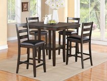 (@) INVENTORY SALE! DARK HARDWOOD PEDESTAL PUB DINING SET in Camp Pendleton, California