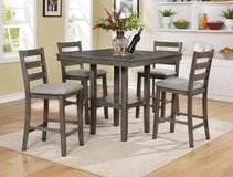 (@) INVENTORY SALE! GREY FINISHED PUB PEDESTAL DINING SET in Camp Pendleton, California