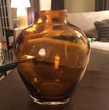 Amber Glass Vase in Yorkville, Illinois