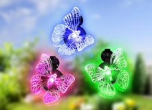 3 pc Butterfly Window Decoration Color Changing in Ramstein, Germany