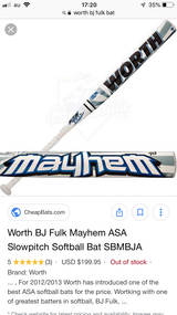 Worth Mayhem Men's Softball Bat in Okinawa, Japan