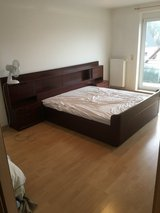 King Bed Frame and New Mattress in Ramstein, Germany