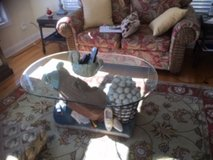 Golf Bag Table with removable glass top in Wilmington, North Carolina
