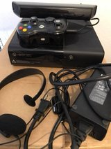 XBOX 360 with Kinect, controller, headset, and 5 games in Stuttgart, GE