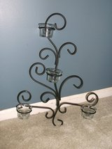 Wrought iron black wall scounce for candles in Lockport, Illinois