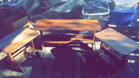 WOOD COFFEE TABLE & 2 MATCHING END TABLES in Fort Polk, Louisiana
