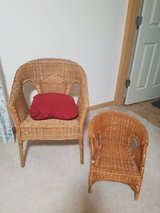 2 wicker chairs  big& small in Fort Lewis, Washington