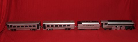 Empire State Express Wooden Train Set O Scale Hand Crafted in St. Charles, Illinois