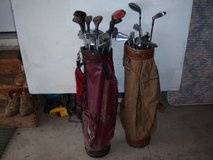 32 MISC OLD GOLF CLUBS-WILSON,MCGREGOR, ETC. DRIVERS ,2 PUTTERS.IRONS in Lockport, Illinois