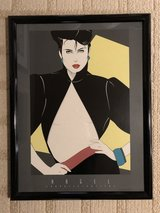 Patrick Nagel framed graphics poster 1990 era Unsigned in Lockport, Illinois