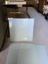 "14"" (6 pieces) square white tempered glass shelves, sheets, wedding centerpiece tray etc... NEW in Houston, Texas"