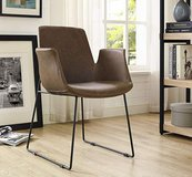 Contemporary faux leather armchair chair office lounge dining NEW in Houston, Texas