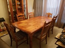 Dining Room Set - Table, 6 Chairs, China Cabinet, Corner Unit in Macon, Georgia