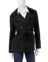 CLEARANCE ***BRAND NEW***Ladie's Black Belted Peacoat***SZ L in Kingwood, Texas