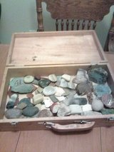 Box of Geodes and Rocks in Yucca Valley, California
