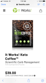 It works keto coffee in The Woodlands, Texas