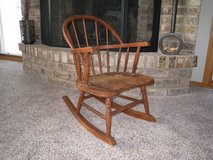 Vintage and Antique Child or Doll Wooden Rocking Chair in Glendale Heights, Illinois