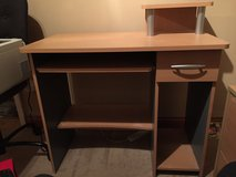 Desk beech colour with draw and shelf in Lakenheath, UK
