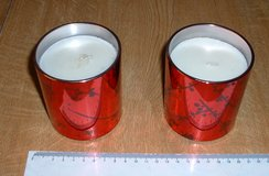 RED MIRRORED CANDLE X 2 (NEW) in Lakenheath, UK