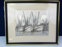 Fishing Boat Sketch Print in League City, Texas