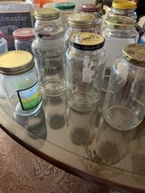 Empty Glass Jars washed clean good for candle making - 20 Bottles in Bolingbrook, Illinois