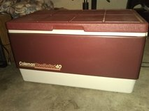 Rare Burgundy Vintage Coleman SteelBelted 40 Cooler in Warner Robins, Georgia